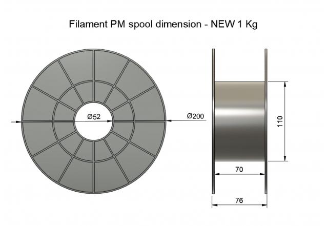 Plasty Mladeč PLA černá Průměr struny: 1.75 mm, Hmotnost návinu: 1 kg