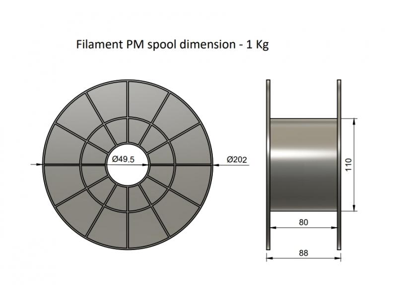 Plasty Mladeč PLA zlatá Průměr struny: 1.75 mm, Hmotnost návinu: 1 kg